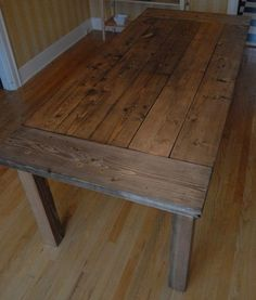 Farmhouse table tutorial-this is the one I am going to make. Reminder check her blog for the mismatched chairs also.