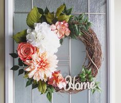 Floral Wreaths Wreaths Front Door Wreaths by GinsengCreations