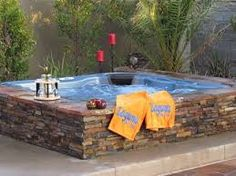 Image result for above ground hot tubs built in to deck