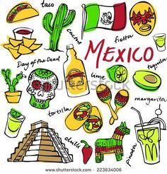 Doodle Icon, Doodle Art, Mexico Tattoo, Mexican Artwork, Mexico Culture, Facts For Kids, Mural Art, Pics Art, Art Sketchbook