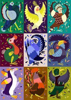 Marching Bird Project by Marijke Buurlage, via Behance