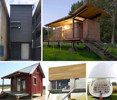 A man's home is his castle…except when it's barely bigger than the tool shed. These tiny houses encourage simple living and a smaller environmental footprint. Little House Living, Tiny House, Tumbleweed Tiny Homes, Mobile Living, Getaway Cabins, Tool Sheds, Play Houses, Tree Houses, Small Places
