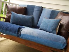 repurposed denim not sure I love it, but I do have a large stack of old jeans I really should do something with.