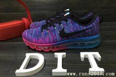 Nike Flyknit Air Max Women Blue Purple