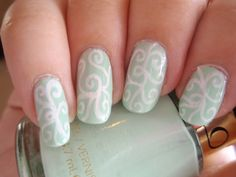 Nails-replace mint with peach or tan