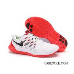 buy popular b2d4e 6a601 New Style 2014 Mens Nike Free 5.0 2014 Shoes White Crimson