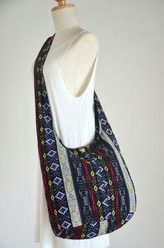 Absolute Black Elephant Bag Hippie Hobo Bag Sling Crossbody Bag ...