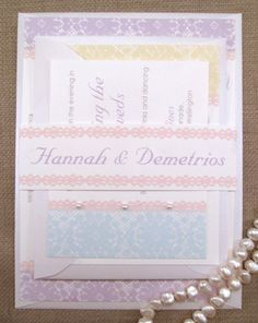 Hannah Shabby Chic Wedding Invitation Suite by ComplementaryDesign, $3.95
