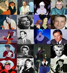 10 Great Disney Villians & their voice actors. (From the
