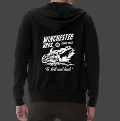 Supernatural hoodie with zipper Winchester bros printed for men