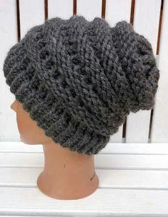Loom knitting obręcz dziewiarska czapka hat www.knitpl.com