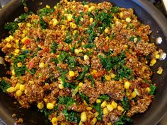 Red Quinoa Pilaf with Kale and Corn from our December VegCookbook, Vegan Holiday Kitchen.