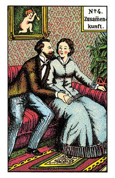The Kipper Cards meaning ofthe Get Together from the original Kipper Fortune Telling Cards, the Get Together maeans that you should seek the company of other people Fortune Telling Cards, Oracle Cards, Card Reading, Lotr, Dame, Spiderman, Playing Cards, Spirituality, Baseball Cards