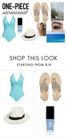 """As blue as sea"" by sapphire-13 on Polyvore featuring moda, Melissa Odabash, Antik Batik, rag & bone, JINsoon e onepieceswimsuit"