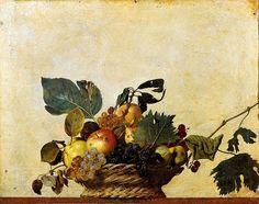 Canestra di frutta. Dipinto a olio su tela, di dimensioni 31x47 cm. Databile al 1599  e oggi conservato nella Pinacoteca Ambrosiana di Milano.