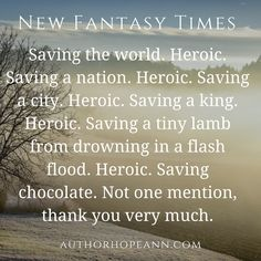A satirical article on hero cliches: https://authorhopeann.com/2016/07/27/new-fantasy-times/