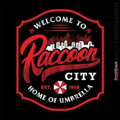 Raccoon City from ShirtPunch Tyrant Resident Evil, Resident Evil Video Game, Star Citizen, Evil Pictures, Evil Pics, Thumbnail Design, Umbrella Corporation, Day Of The Shirt, Video X