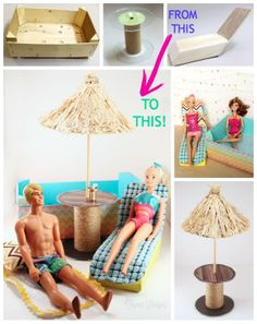 Fun Barbie furniture up-cycle. Plus enter to WIN 2 Barbies and Movie tickets #Barbie #barbiefurniture #giveaway