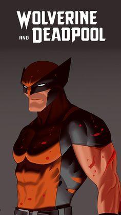 "geeknetwork: "" Wolverine and Deadpool - Dan Mora "" Marvel Comic Universe, Marvel Vs, Marvel Heroes, Marvel Comics, Spiderman Marvel, Batman, Wolverine Art, Logan Wolverine, Comic Books Art"