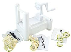 Paderno World Cuisine A4982799 Tri-Blade Plastic Spiral Vegetable Slicer : Amazon.com