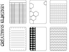 Free Black & White Journal Cards 1 from KLdezign {French blog, enlarge image and right click to save file}