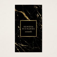Black and Gold Marble Event Planner Business Card Black and Gold Marble Event Planner Business Card Grey Wedding Invitations, Wedding Cards, Black And Gold Invitations, Corporate Design, Business Card Design, Logo Luxe, Black And Gold Marble, Black White, Gray Marble