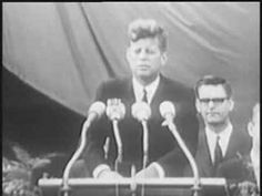 """26th June 1963, exactly 50 years ago today, John F. Kennedy gave his famous """"ich bin ein Berliner"""" speech at Rathaus Schöneberg.  Despite the fact that he actually called himself a donut, this moment came to define the West's image of itself during the cold war. #history #coldwar #berlin"""