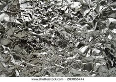 silver aluminum foil background