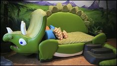 WOW what an awesome bed - #kidsrooms #dinosaurs #kidsbeds