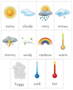 The Helpful Garden: Weather Chart with Cards #printable #science