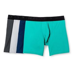 Fruit of the Loom Men's Breathable Micro-Mesh Boxer Briefs - Turquoise/GrayM, Size: Medium, Multicolored Tomboy Fashion, Fashion Outfits, Verde Aqua, Men's Boxer Briefs, Fruit Of The Loom, Fitness Fashion, Black And Grey, Gym Shorts Womens, Underwear