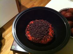 Red velvet cheese ball with chocolate chips
