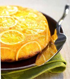 Aromatic cake with oranges