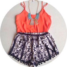 aztec shorts #swoonboutique