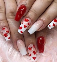 This series deals with many common and very painful conditions, which can spoil the appearance of your nails. But for you, nail technicians, this is not a problem! SPLIT NAILS What is it about ? Nails are composed of several… Continue Reading → Heart Nail Designs, Valentine's Day Nail Designs, Best Nail Art Designs, Simple Nail Designs, Nails Design, Holiday Nail Designs, Cute Acrylic Nails, Cute Nails, Pretty Nails