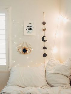 Lady Scorpio Perfect Bedroom Decor for the Hippie at heart Alexa Halladay designing a Boho Bungalow Light Pastel All Seeing Gold EYE with Copper Fairy. Hippie Home Decor, Diy Home Decor, Boho Decor, Bedroom Wall, Bedroom Decor, Bedroom Ideas, Bedroom Girls, Bed Wall, Bedroom Furniture