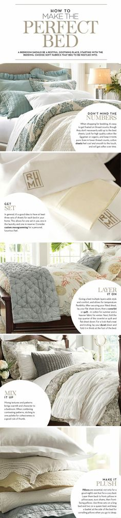How to Make the Perfect Bed #living room design #interior decorating #home design ideas| http://roomdesignssally.blogspot.com