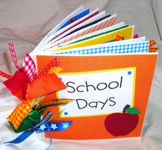 SCHOOL DAYS PaPeR BaG premade Scrapbook Album by stampingirl2, $27.00