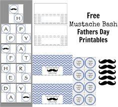mustache bash printables