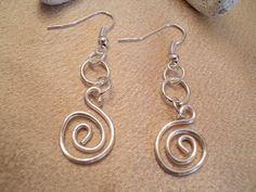 Silver Swirl Earrings Silver Spiral by TreasureIsleGiftShop