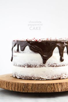 Chocolate Peppermint Cake @FoodBlogs