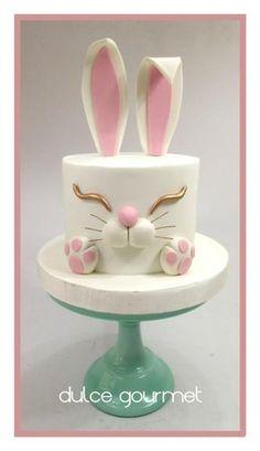 by Silvia Caballero Bunny cake! by Silvia Caballero Bunny cake! by Silvia Caballero Bunny cake! by Silvia Caballero Fondant Cakes, Fondant Figures, Cupcake Cakes, Easter Cake Fondant, Fondant Bow, 3d Cakes, Fondant Flowers, Fondant Birthday Cakes, Simple Fondant Cake