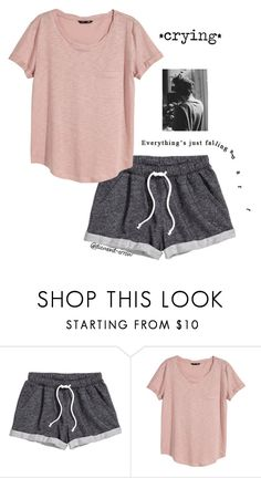 """T A G"" by diamond-arrow ❤ liked on Polyvore featuring H&M"