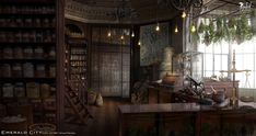 """""""We've been invited to dream up the world of NBC's Emerald City. More to come and hope you enjoy! New Fantasy, Fantasy Places, Medieval Fantasy, Final Fantasy, Episode Interactive Backgrounds, Episode Backgrounds, Emerald City, Studios, Velvet Room"""