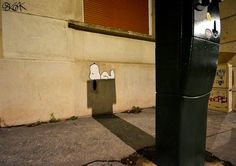 A Shadowy Snoopy on the Streets of Saint-Etienne, France by OakOak  http://www.thisiscolossal.com/2015/02/shadowy-snoopy-on-the-streets-of-saint-etienne-france/