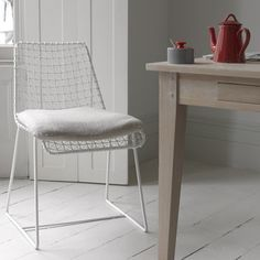 Hand Welded Wire Kitchen Chair | Geronimo White | Loaf