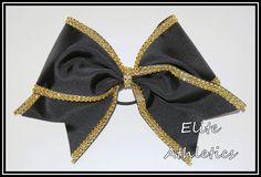 cheer bow with diamond mesh