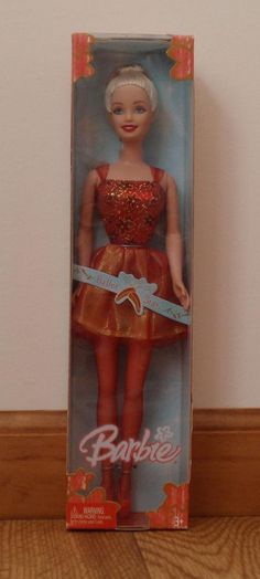 Barbie Ballet Star -  Red  Ballerina (2005) / Pink Label / MNRFB / 3+ #Mattel #DollswithClothingAccessories