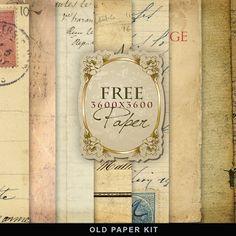 Freebies Old Paper Kit