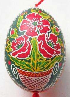 Poppy Hen  Pysanka Hand Painted Easter Egg/Eggs Ukrainian Писанка Украины